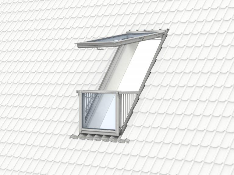 Cabrio balkonvenster GDL wit afgelakt